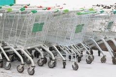 Shopping trolleys Stock Photos