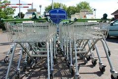 Shopping trolleys, Waitrose Stock Photography