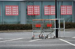 Shopping Trollies Royalty Free Stock Photo