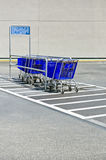 Shopping trollies at the parkin Stock Image
