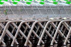Shopping Trollies. Stock Photo