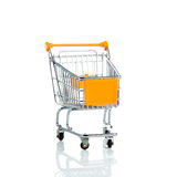 Shopping trollly isolated on white background business object Royalty Free Stock Images