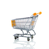 Shopping trollly isolated on white background business object Royalty Free Stock Photos