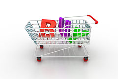 Shopping trolly Stock Photos