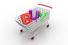 Shopping trolly Royalty Free Stock Photo