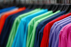 Shopping Tshirts Stock Photo