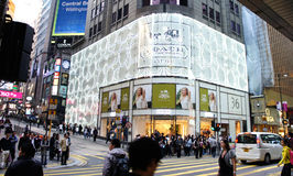 Shopping at Tsim Sha Tsui Stock Photo