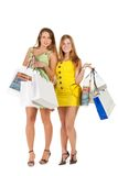 Shopping. Two beautiful girl with bag Royalty Free Stock Photos