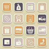 Shopping universal icons Royalty Free Stock Photo