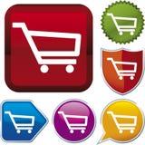 shopping ve för vagnssymbolsserie Arkivbild