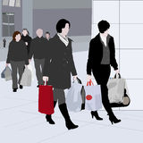 Shopping vector Royalty Free Stock Images
