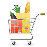 Shopping vector icon Royalty Free Stock Image
