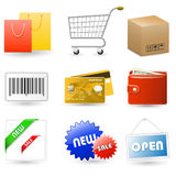 Shopping vector icons Royalty Free Stock Photography