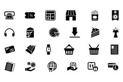 Shopping Vector Icons 5 Royalty Free Stock Images