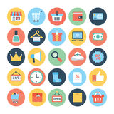 Shopping Vector Icons 1. Lets Shop Now Here are Shopping  icons that can be used for marketplace, online shopping and ecommerce website Stock Image