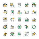 Shopping Vector Icons 1 Stock Photography
