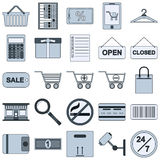 Shopping vector icons Stock Image