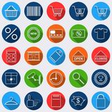Shopping vector icons Stock Images
