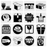 Shopping vector icons set. Stock Photos