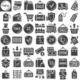 Shopping vector icons set Stock Image