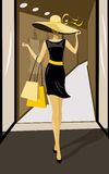Shopping Vector Illustration Royalty Free Stock Images