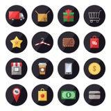 Shopping vector set. Icons set. Modern flat design. Stock Photo