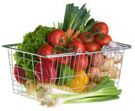 Shopping for vegetables Stock Images