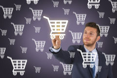 Shopping on Visual Screen. Conceptual Business Concept Stock Photography