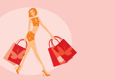 Shopping walk Royalty Free Stock Images