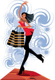 Shopping walk Royalty Free Stock Photos