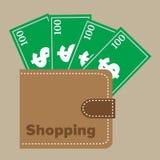 Shopping wallet Stock Image