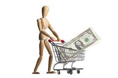Shopping for wealth Stock Photos