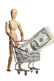 Shopping for wealth royalty free stock image