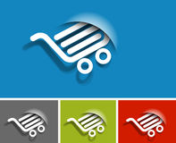 Shopping web icon Royalty Free Stock Images