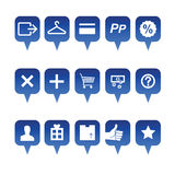 Shopping web icons stock illustration