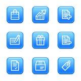 Shopping web icons Royalty Free Stock Photo