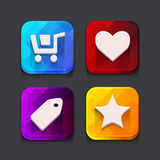 Shopping web icons collection Royalty Free Stock Photography