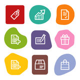 Shopping web icons, colour spots series Royalty Free Stock Photo