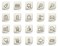 Shopping web icons, document series Royalty Free Stock Images