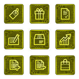 Shopping web icons, electronics card series Stock Photography