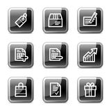Shopping web icons, glossy buttons series royalty free illustration