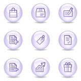Shopping web icons, glossy pearl series Royalty Free Stock Images