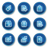 Shopping web icons set 1, blue circle buttons royalty free illustration