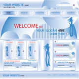 Shopping web site design template, vector Stock Photos
