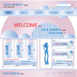 Shopping web site design template, vector Royalty Free Stock Images