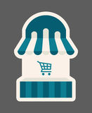Shopping website icon Stock Photography