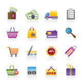 Shopping and website icons Stock Images