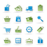 Shopping and website icons Royalty Free Stock Image