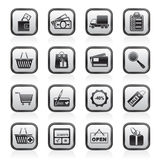 Shopping and website icons Royalty Free Stock Photos