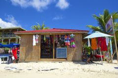 Shopping in West Bay beach, Honduras, Caribbean Royalty Free Stock Image